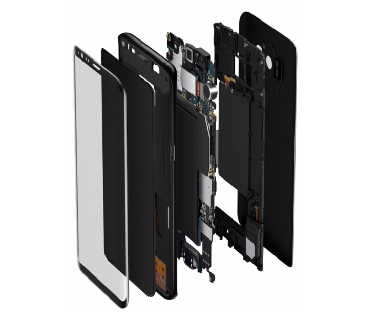 Galaxy S9 stacked logic board bigger battery