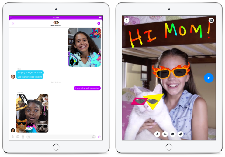 Facebook debuts new Messenger app for kids 6 and up