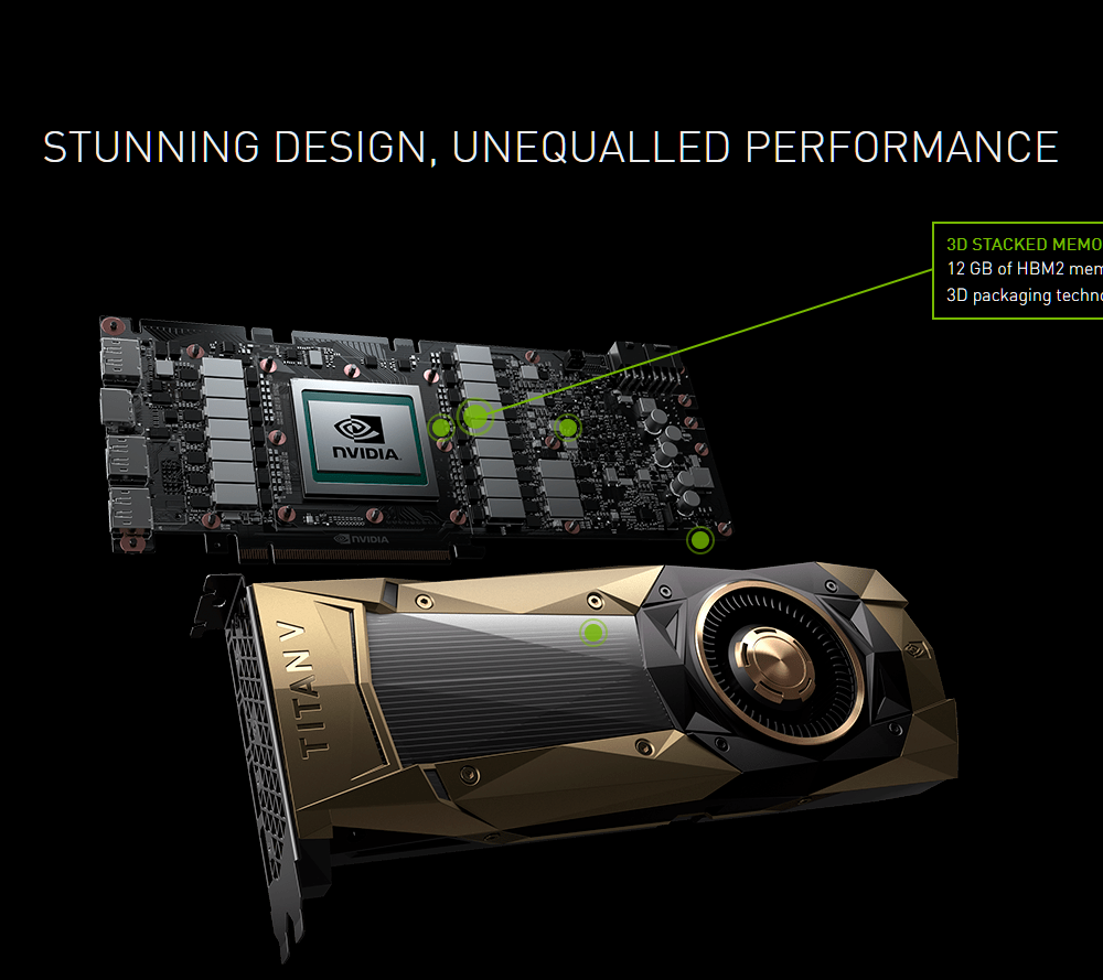NVIDIA announces TITAN V: 12GB HBM2, priced at $2999