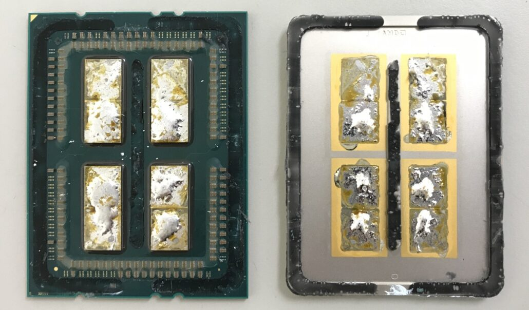 AMD Ryzen 3000 CPU Soldered IHS