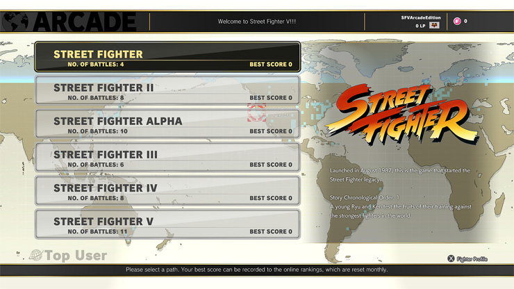 Street Fighter V Arcade Mode Includes Branching Paths and Over 200 Endings
