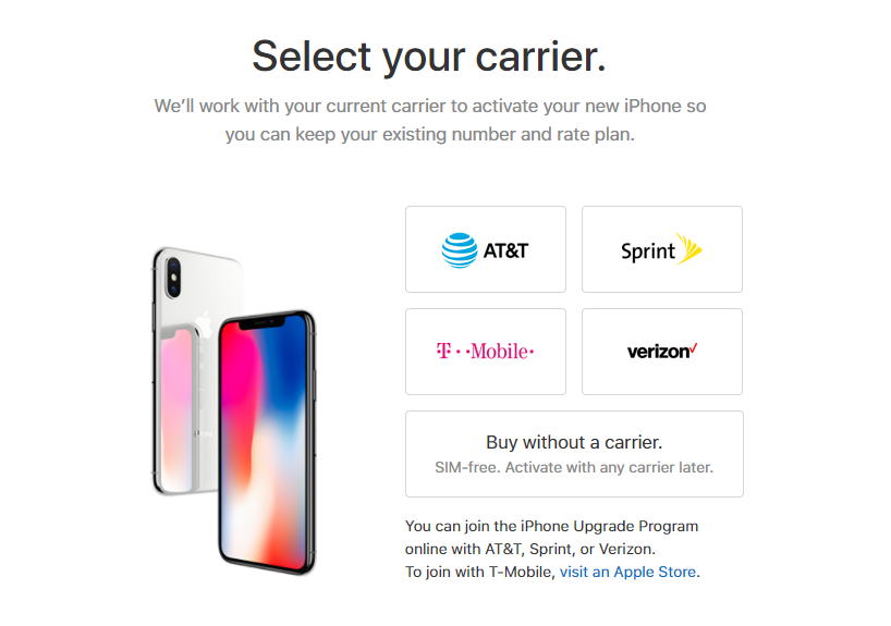 Apple now sells an unlocked, SIM-free version of the iPhone X