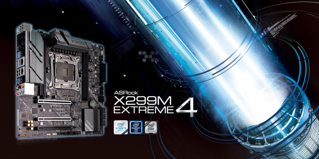 ASRock X299M Extreme4 at CES 2018