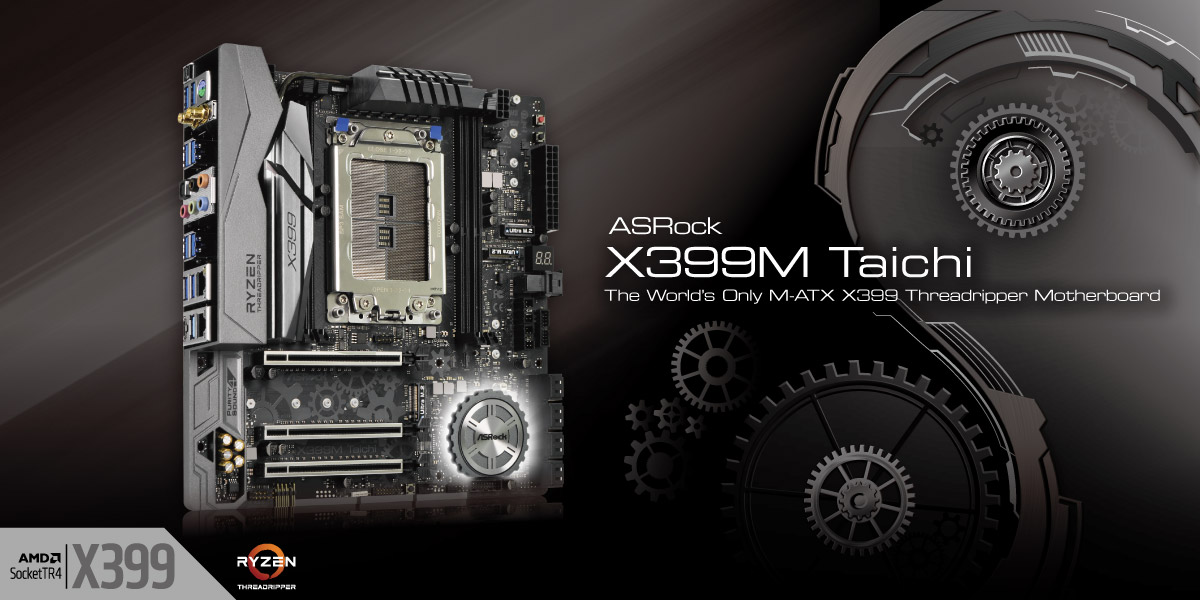 ASRock X399M Taichi will be unveiled at CES 2018