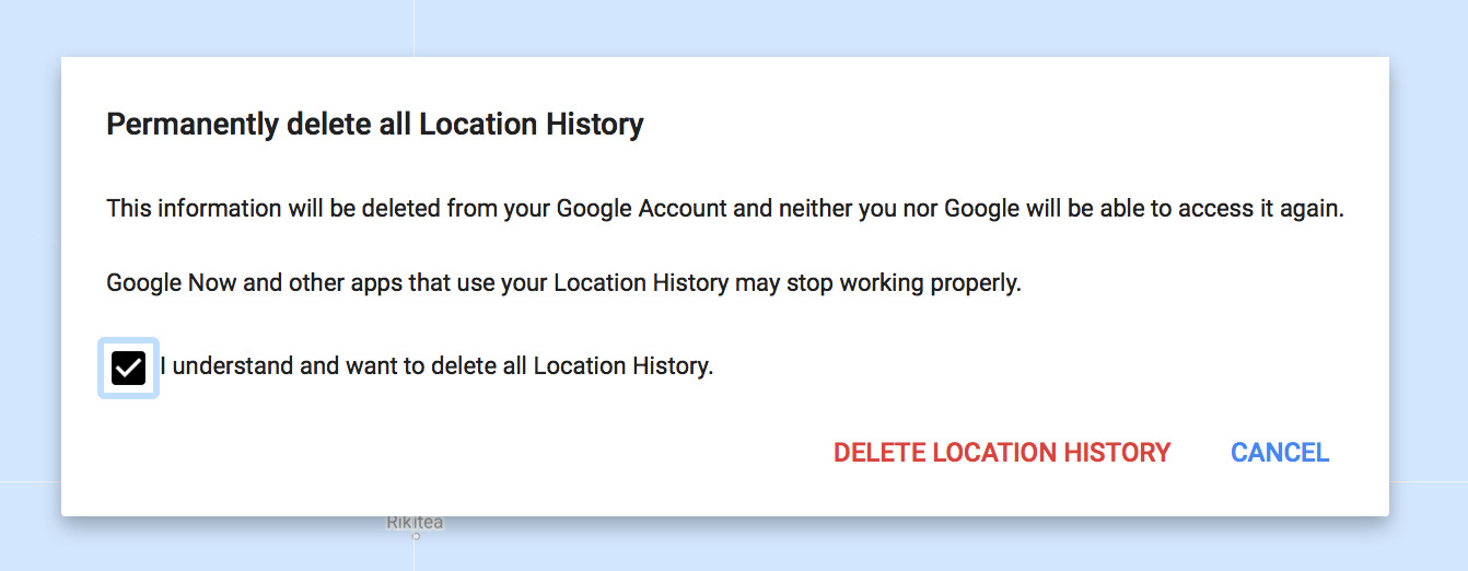 delete google location history