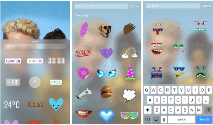 Instagram Stories Adds GIF Stickers For Photos And Videos