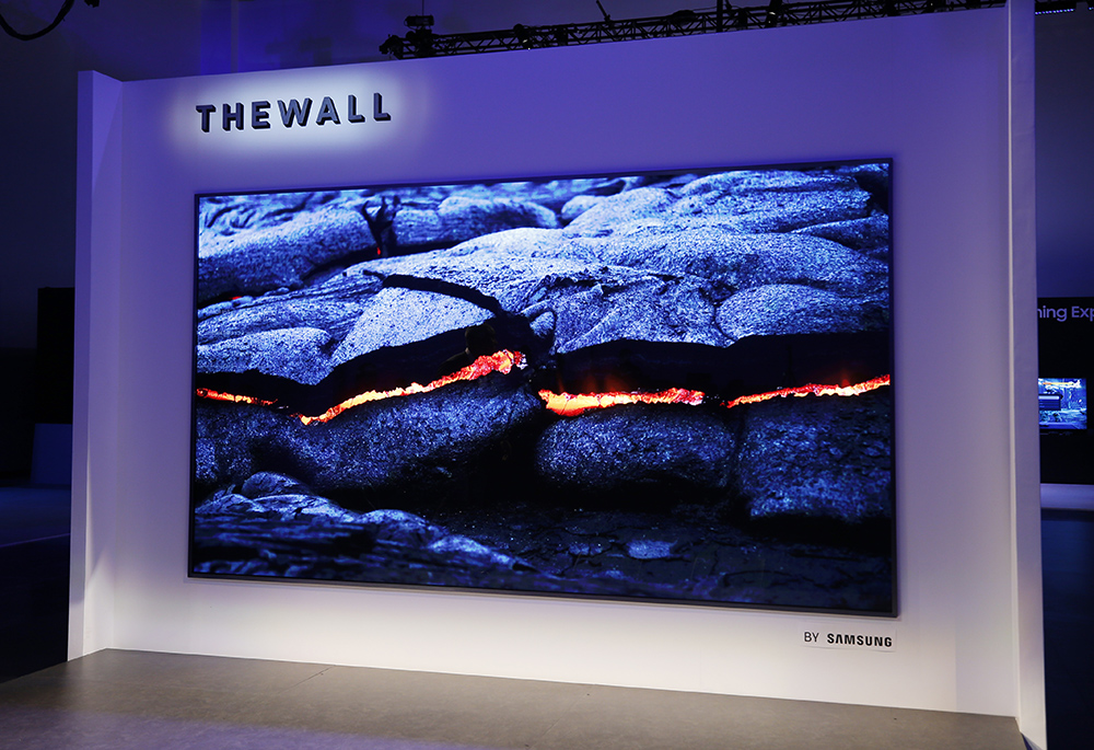 "CES® Samsung 75-inch MicroLED TV ""The Wall"""