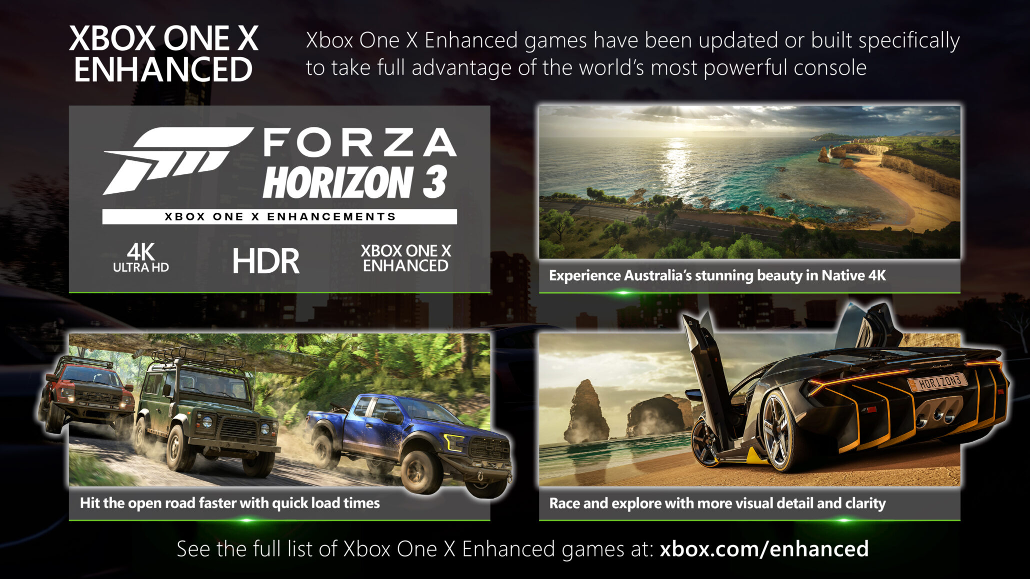 forza horizon 3 xbox one x update being rolled out native 4k 30 with 4x msaa and no drops. Black Bedroom Furniture Sets. Home Design Ideas