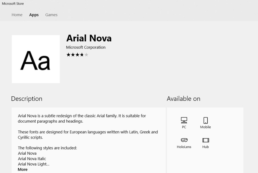 Windows 10 Fonts Are Now Available in the Microsoft Store