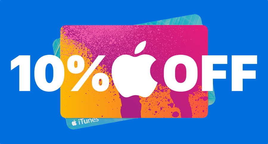 All iTunes Gift Cards Available at 10% Discount, Including a