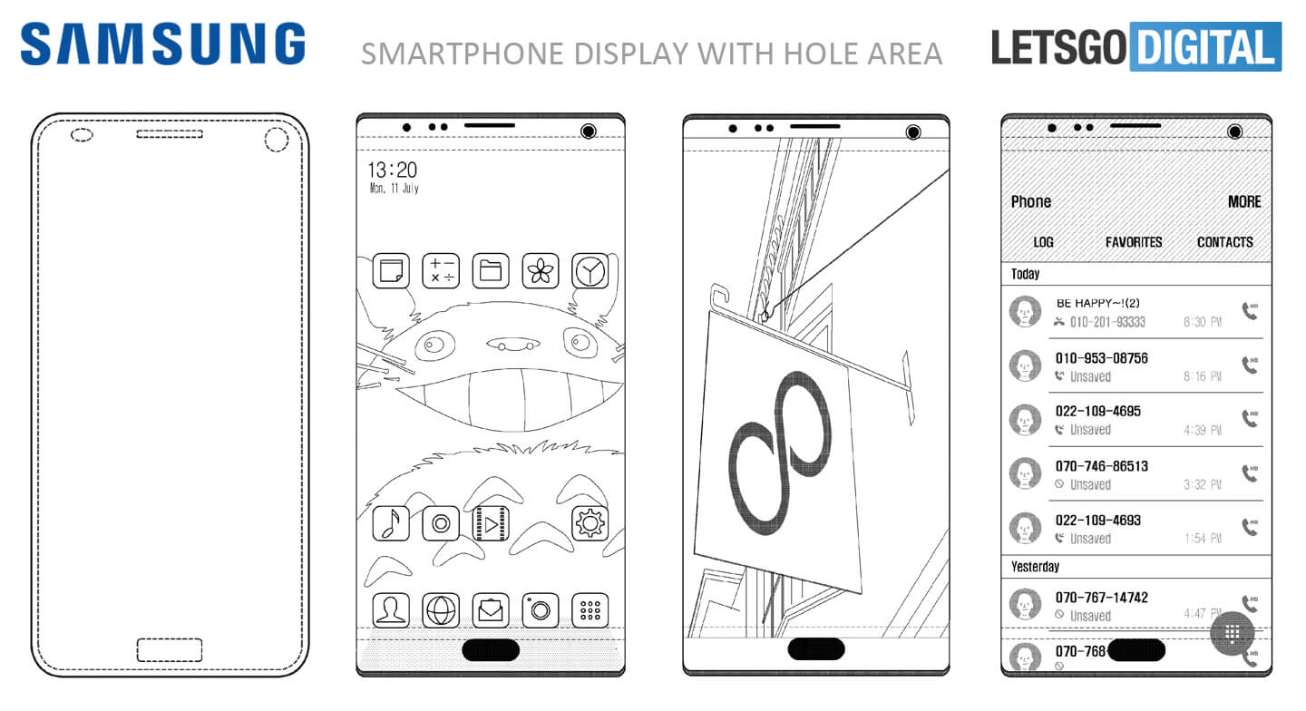 Samsung Patent Potentially Solves The iPhone X's Notch Design Issue