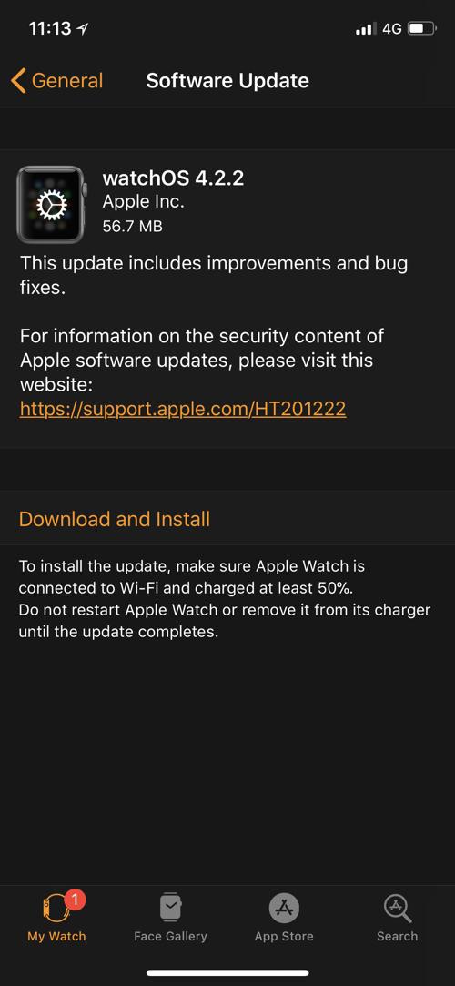 watchOS 4.2.2