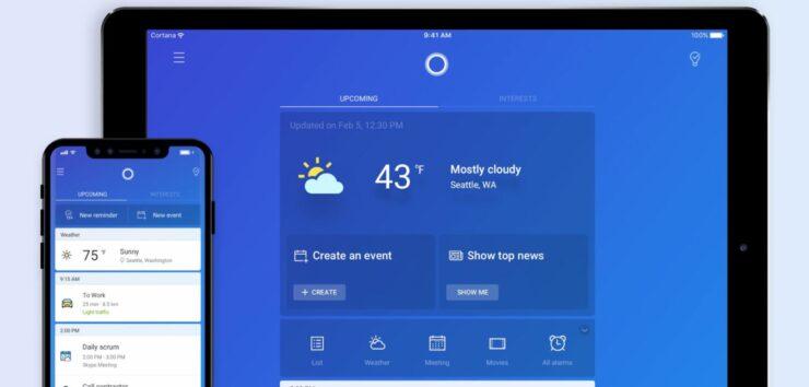 Resultado de imagem para Cortana iPad