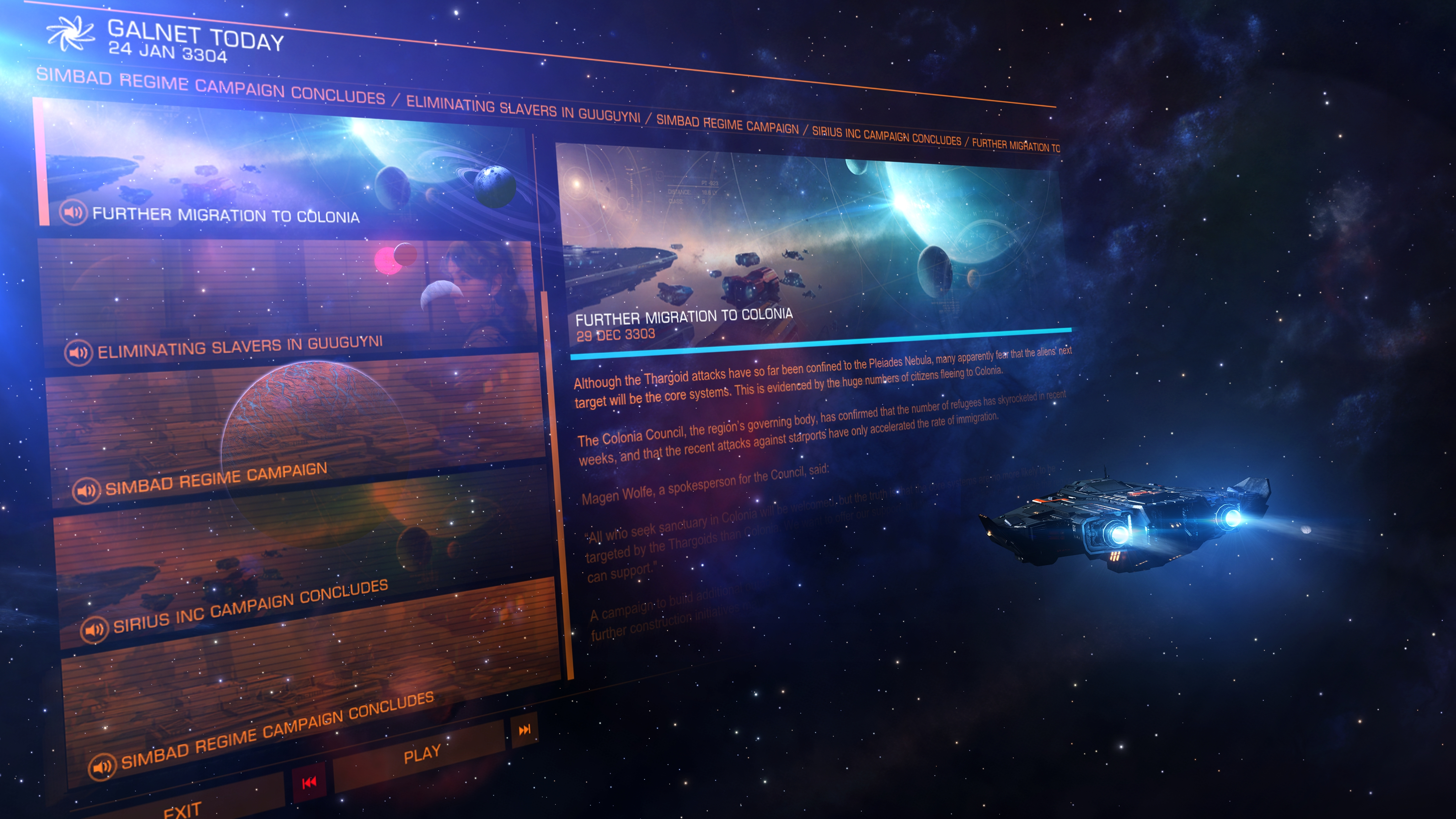 Elite Dangerous: Beyond - Chapter One arrives at the end of February