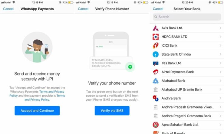 WhatsApp's Peer-to-Peer Payment System Screenshots Surface