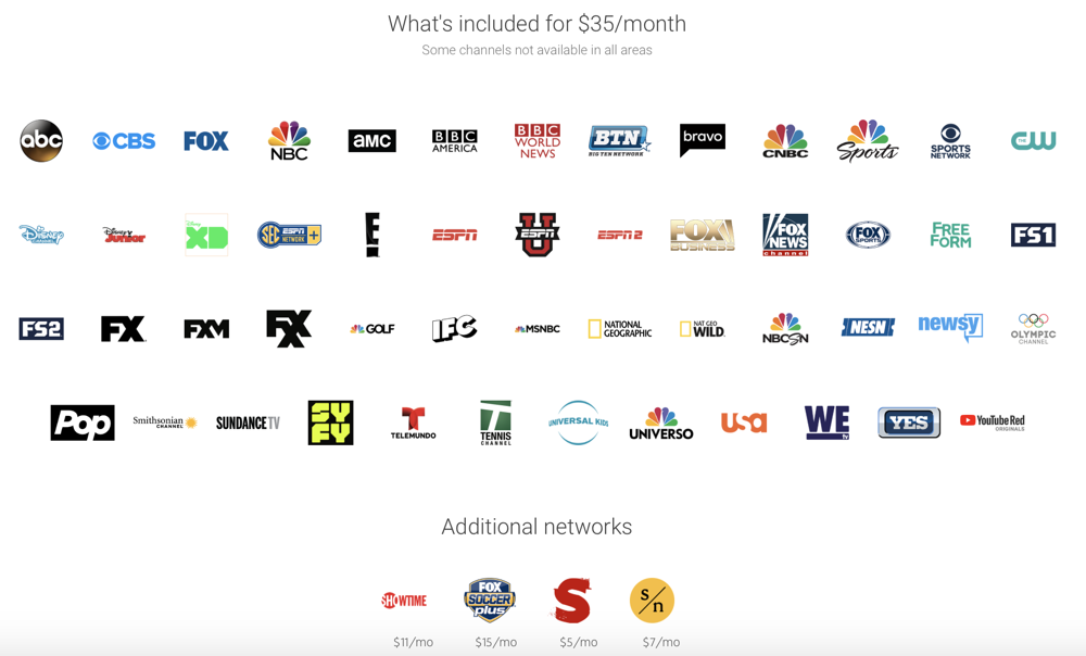 YouTube TV expands its services to Apple TVs and Rokus