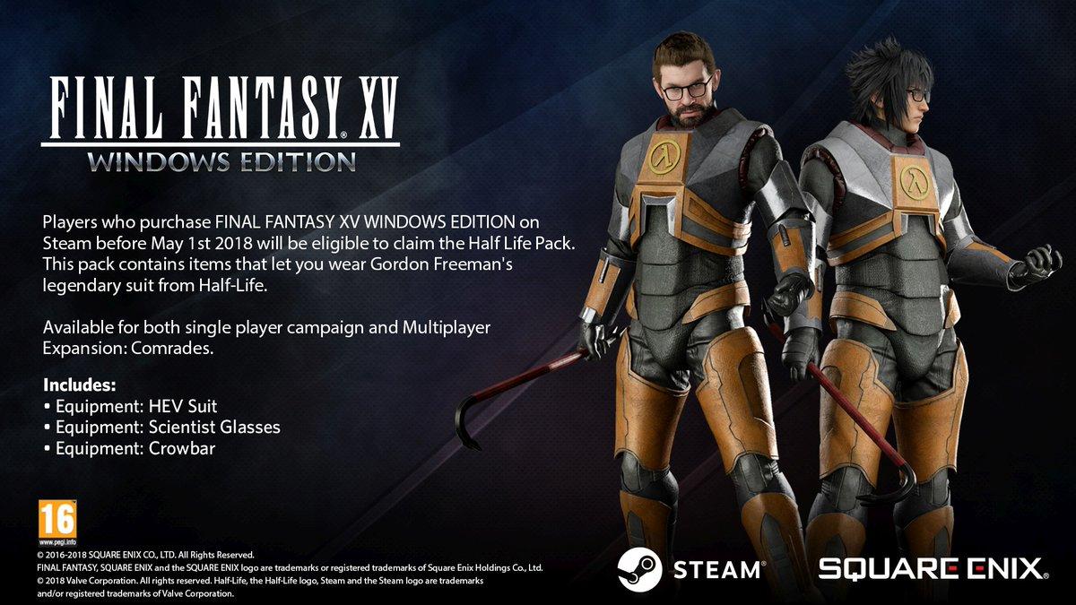 You can cosplay as Gordon Freeman in Final Fantasy XV Windows Edition