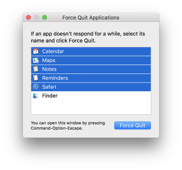 How to Force Quit Multiple Apps on Your Mac Running macOS
