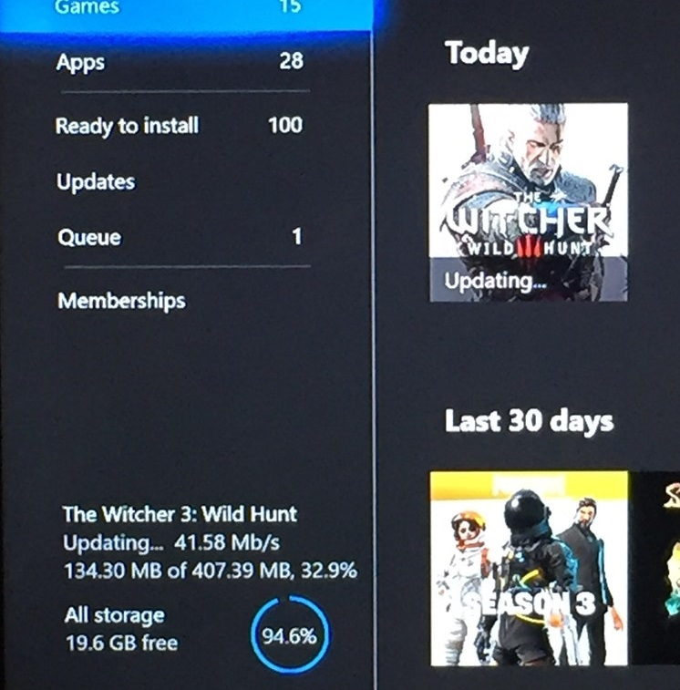 witcher 3 xbox one patch hdr