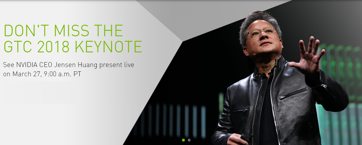 Watch The NVIDIA GTC 2018 Opening Keynote Live Here