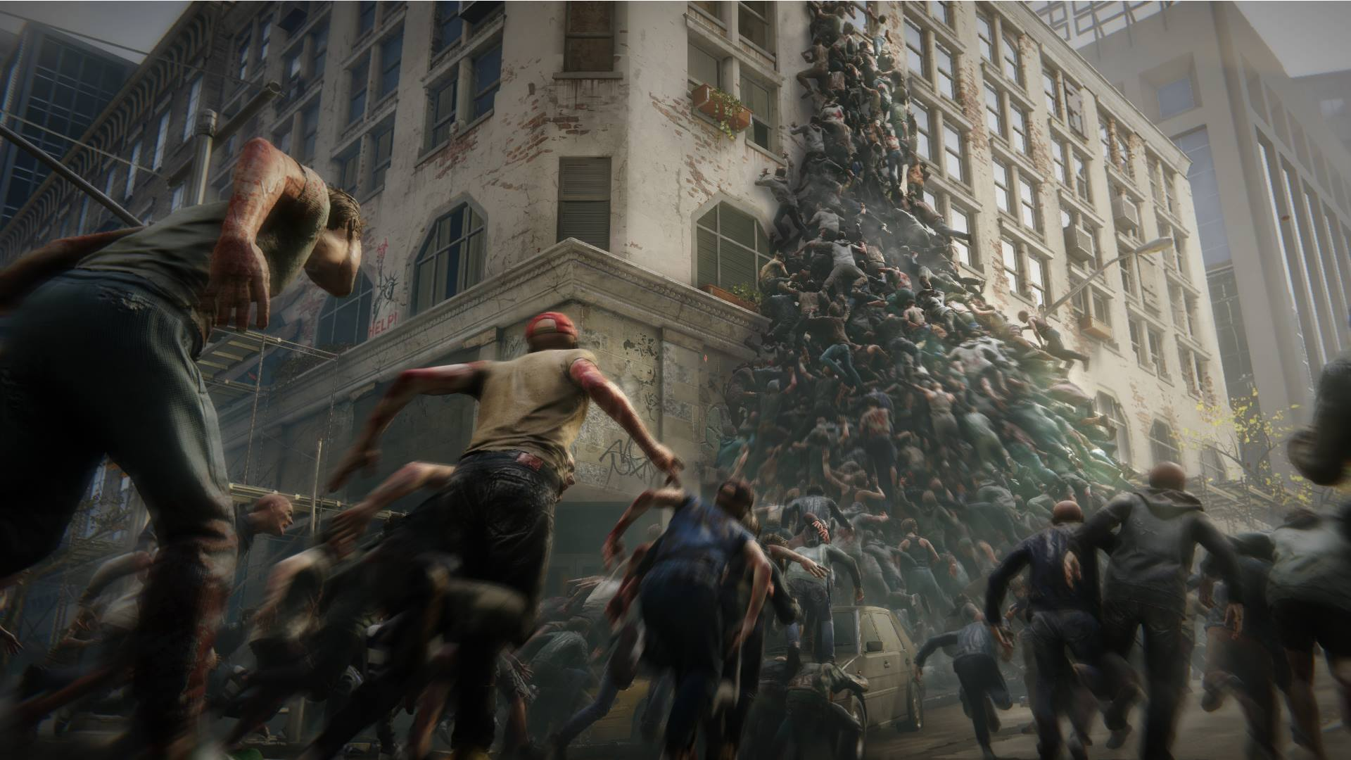 World War Z An Official Tie In Game Of The Movie Starring Brad Pitt Was Announced In Early December By Paramount Pictures And Saber Interactive