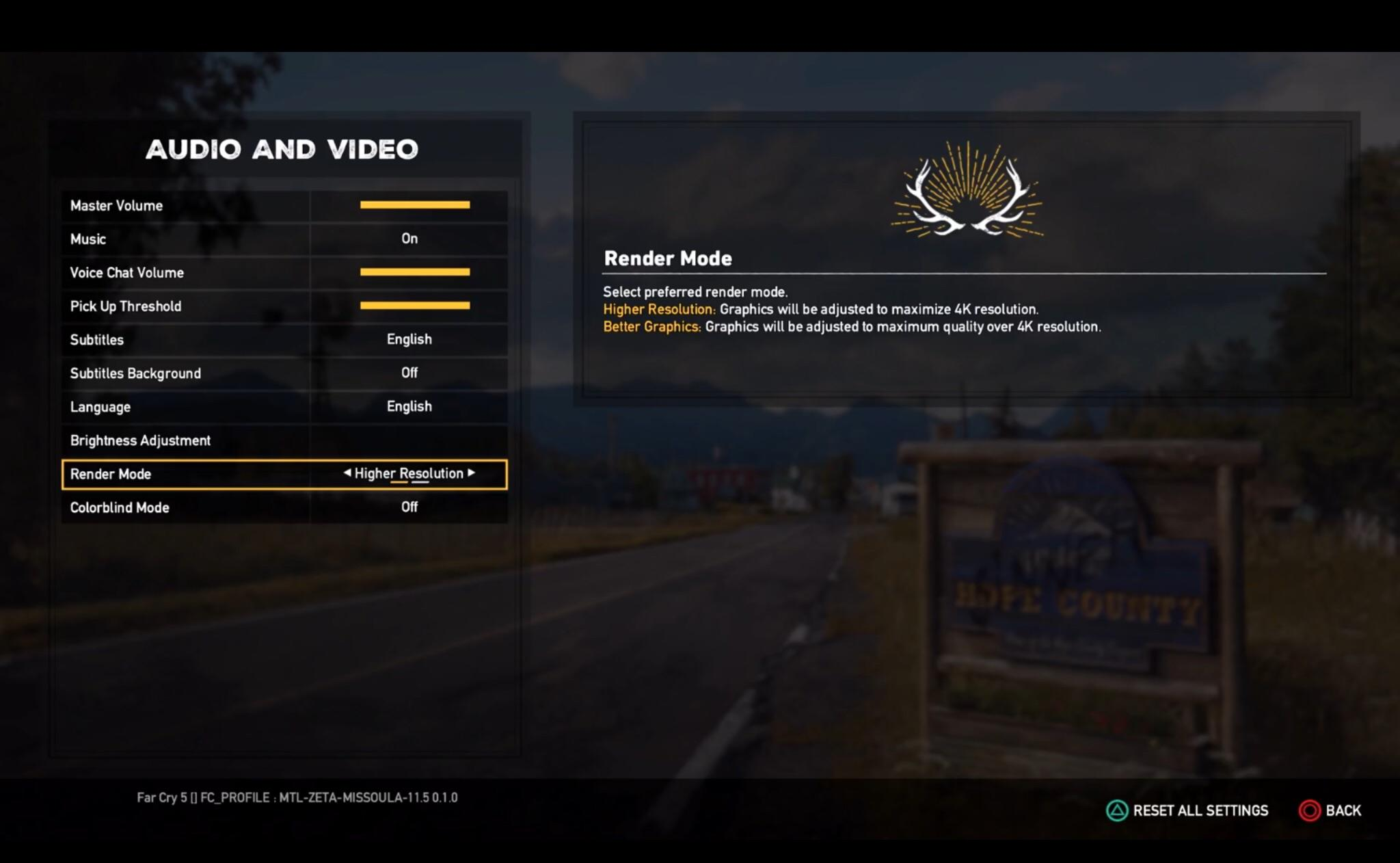 Far Cry 5 Ps4 Pro Render Mode Includes Higher Res Or Better