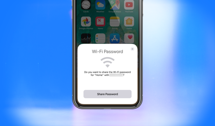 how to find wifi password on iphone x