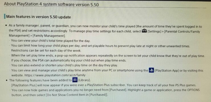 PlayStation 4 Update 5.50
