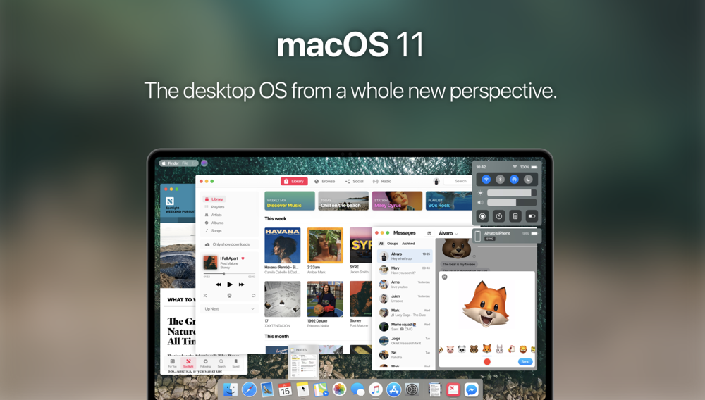 macOS 11 Concept Design Features Universal Apps, New UI & More