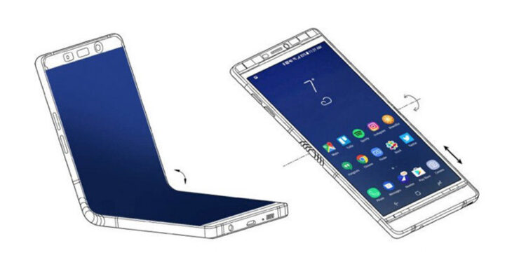 Galaxy X foldable smartphone Galaxy Note 8 screen size