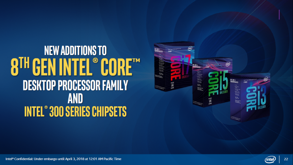 Intel Coffee Lake-S Xeon E 8 Core