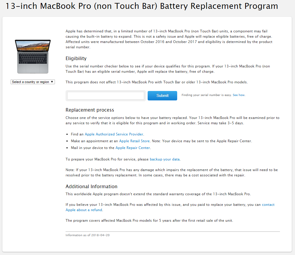 serial number macbook pro 2016