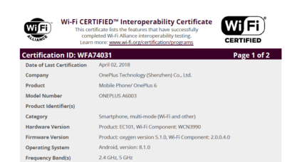 OnePlus 6 Leak Confirms Powerful Specs and Hints Towards Official Launch Date