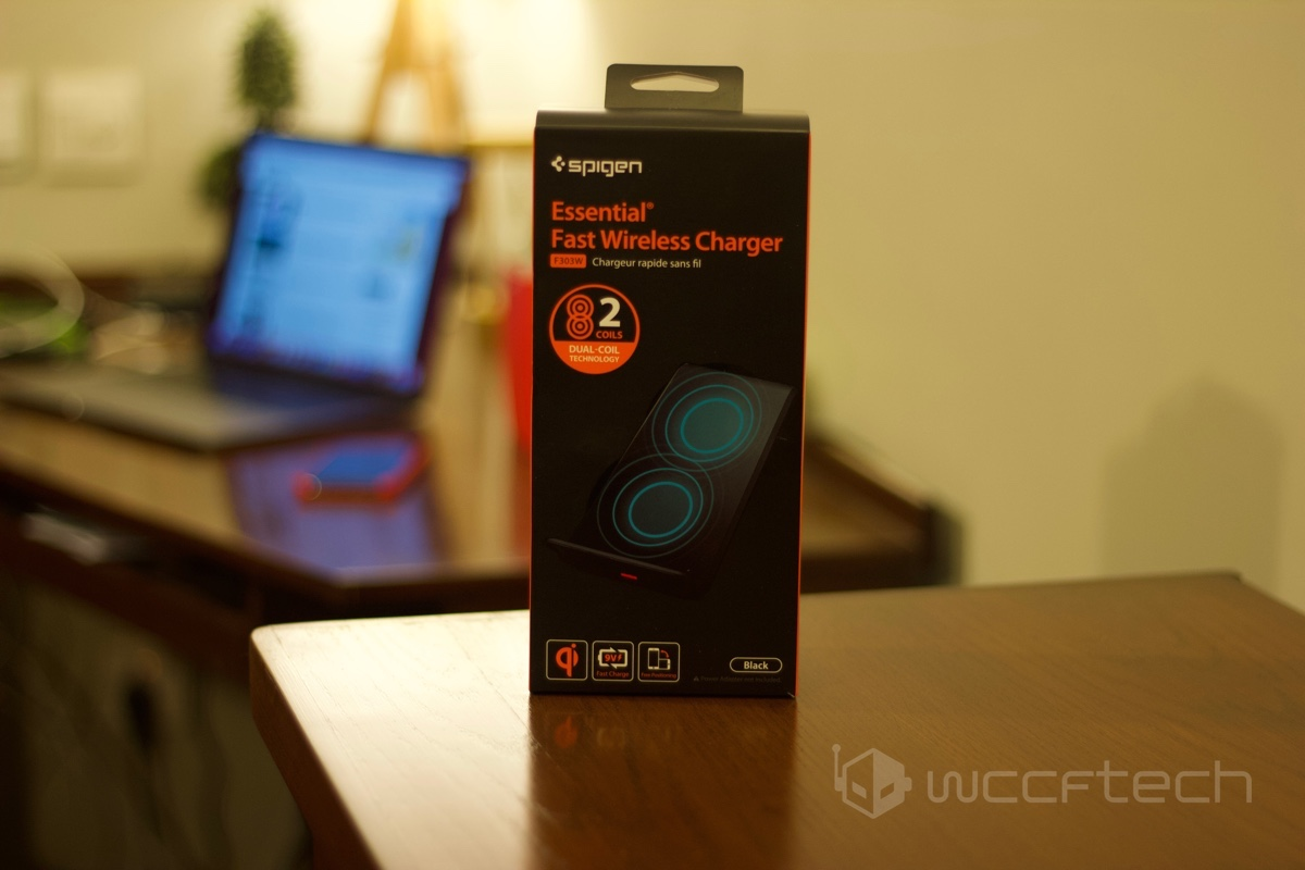 brand new 75714 fa635 Quick Hands-on Review of the Spigen F303W Wireless Charger [Qi ...