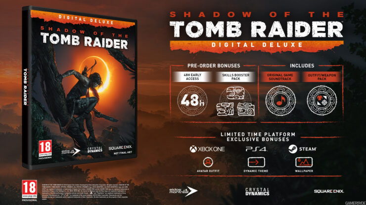 Shadow of the Tomb Raider Season Pass and Special Editions