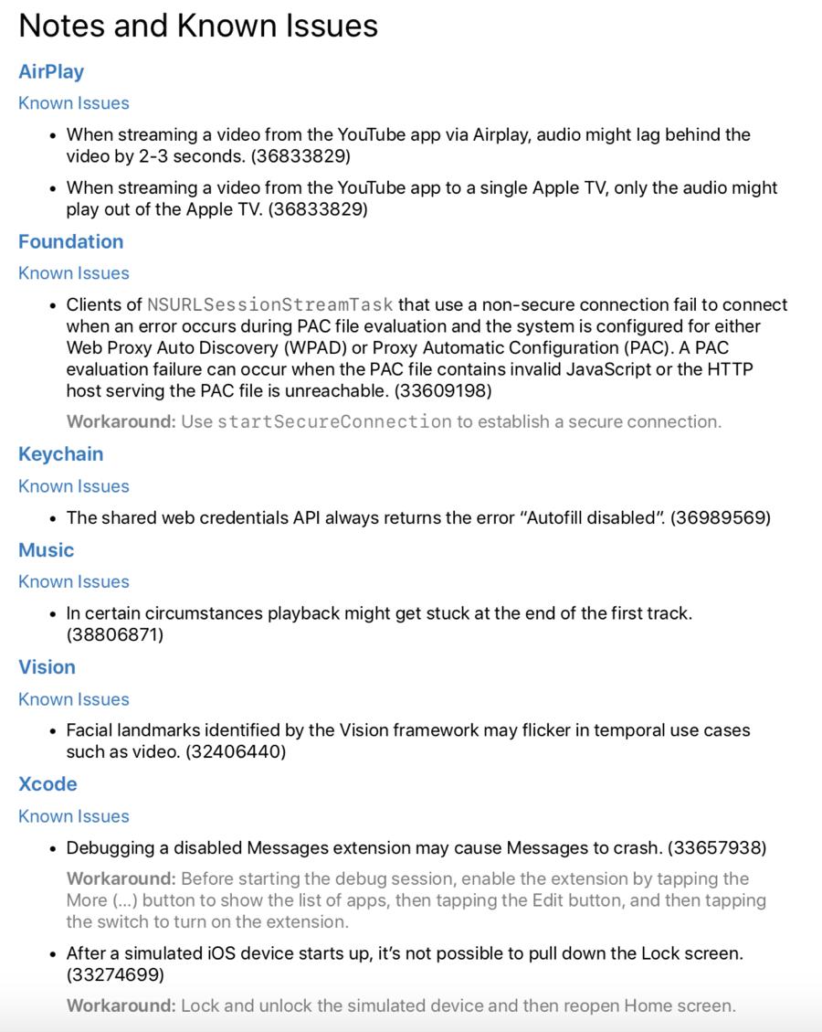 iOS 11.4 Beta 1 release notes