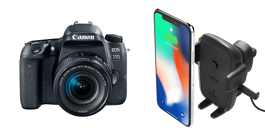 Hot Discounts: $150 Off on Canon EOS 77D, iOttie Qi Wireless