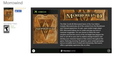 Rumor: New Xbox backward-compatible games include Morrowind, Destroy All Humans