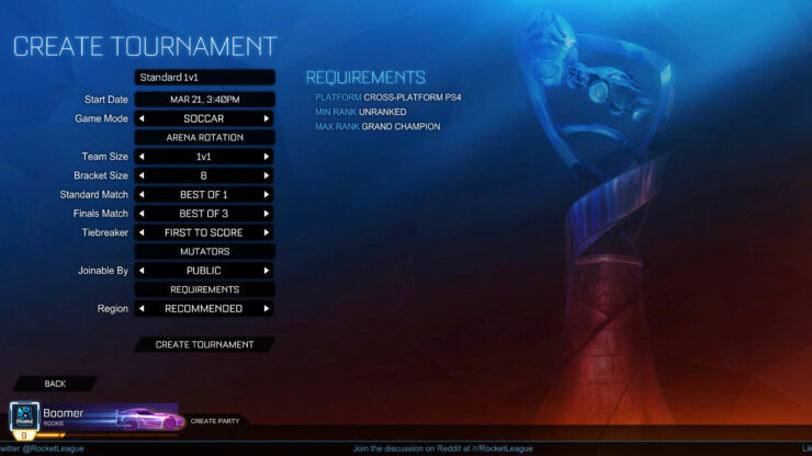 Rocket League update 1.43