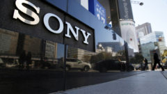 a-logo-of-sony-corp-is-seen-outside-its-showroom-in-tokyo