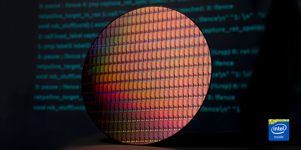 Intel di Computex 2019 - Ice Lake 10 nm Wafer