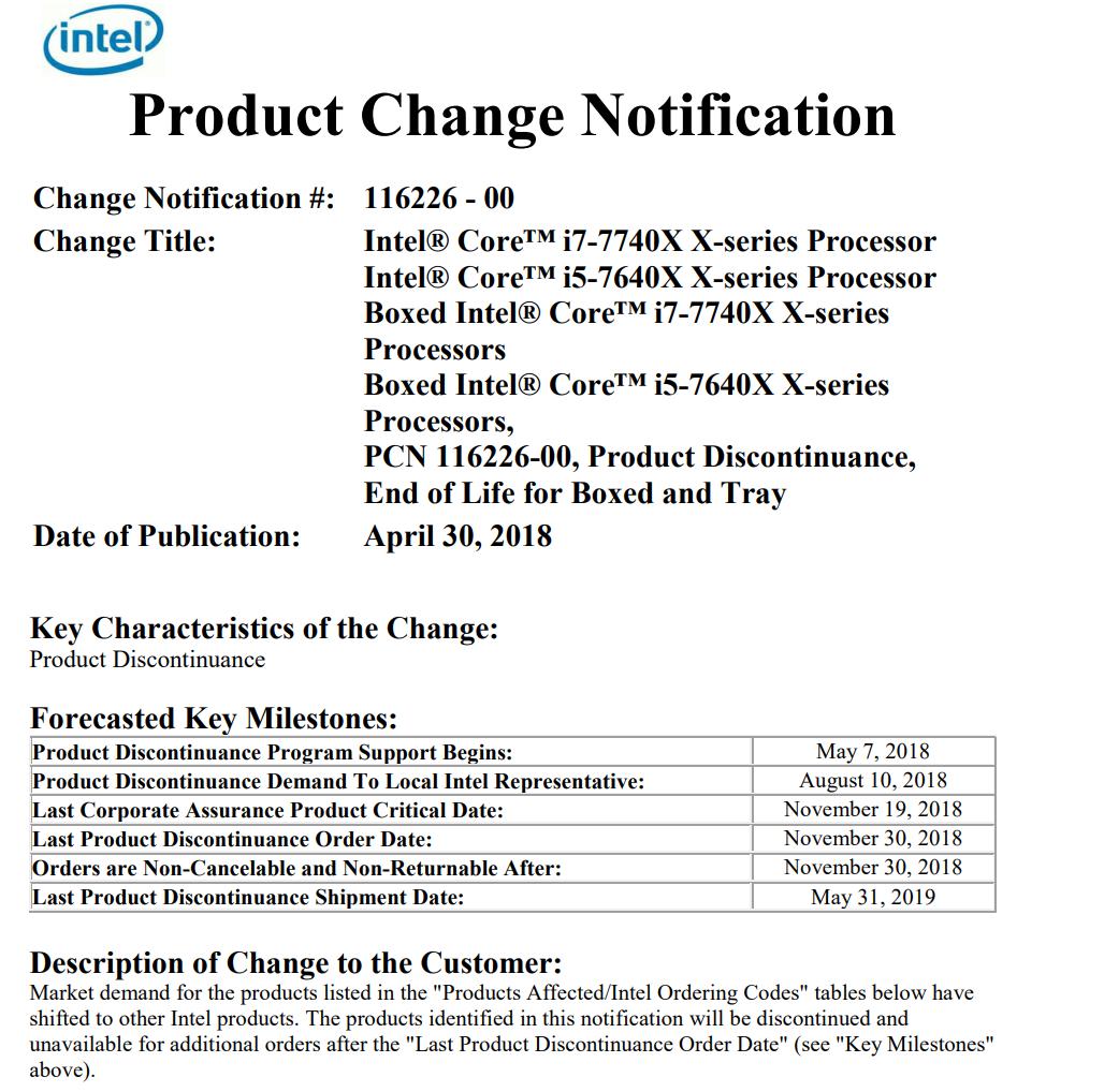 Intel Kaby Lake-X