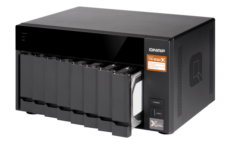 QNAP Releases TS-832X Tiered NAS with Dual 10Gbe SFP+ Ports