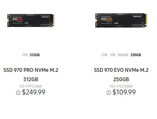 Samsung 970 Evo And Pro Ssds Priced Lower Than Originally Announced