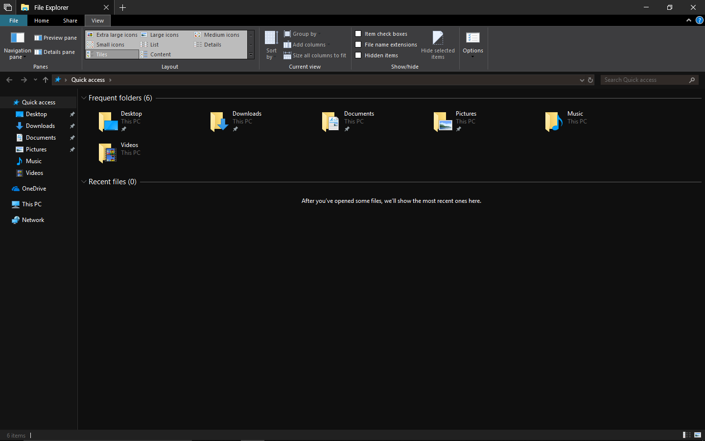 windows 10 file explorer dark theme