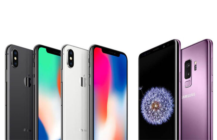 Samsung Apple Q1 2018 smartphone growth increase
