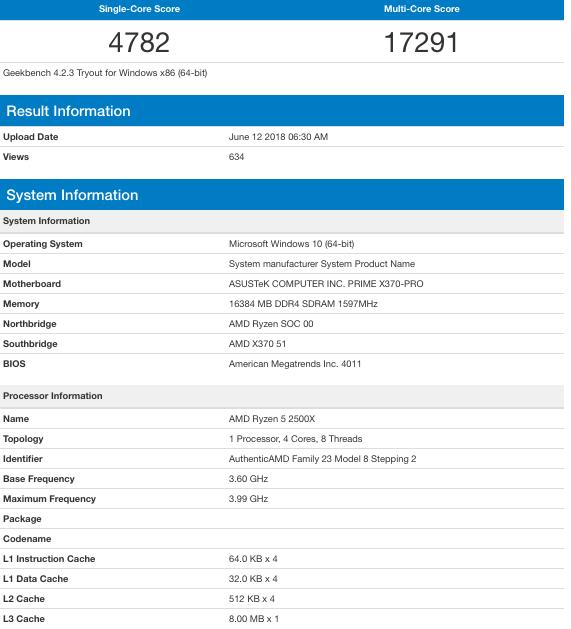 AMD Ryzen 5 2500X & Ryzen 3 2300X Specs and Benchmarks Revealed