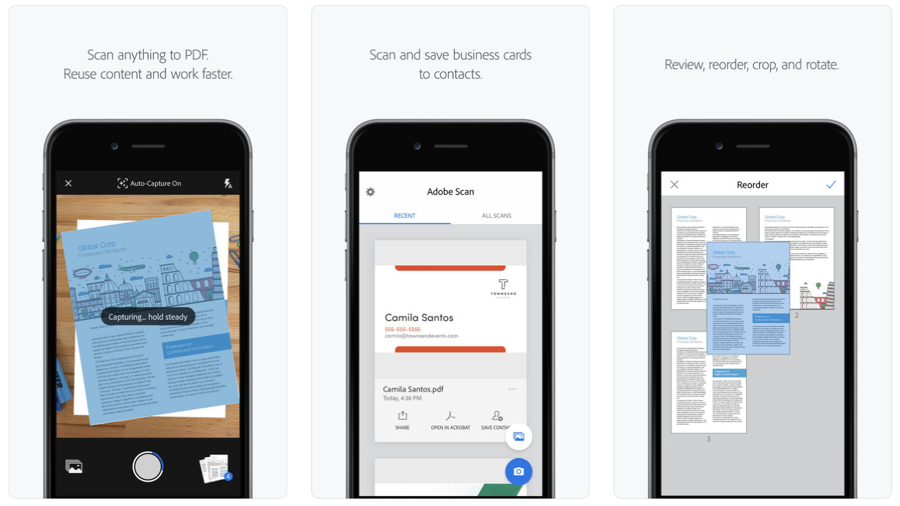 Adobe scan app can now turn a business card into a phone contact scan a business card and adobe scan will extract the contact information so you can quickly add to your device contacts no typing colourmoves