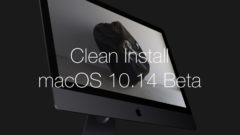 Clean install macOS 10.14 Beta