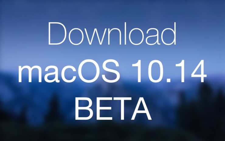Download macOS 10.14 Beta